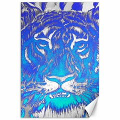 Background Fabric With Tiger Head Pattern Canvas 20  X 30   by Amaryn4rt