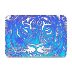 Background Fabric With Tiger Head Pattern Plate Mats by Amaryn4rt