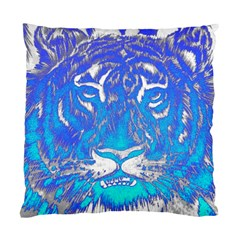 Background Fabric With Tiger Head Pattern Standard Cushion Case (two Sides) by Amaryn4rt