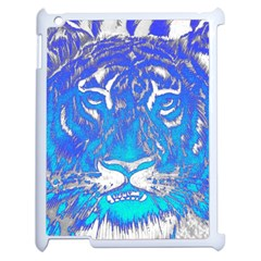 Background Fabric With Tiger Head Pattern Apple Ipad 2 Case (white) by Amaryn4rt