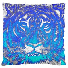 Background Fabric With Tiger Head Pattern Large Cushion Case (two Sides) by Amaryn4rt