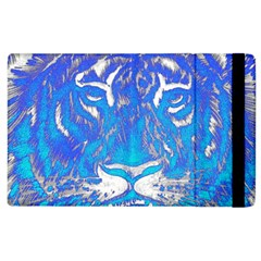 Background Fabric With Tiger Head Pattern Apple Ipad 2 Flip Case by Amaryn4rt