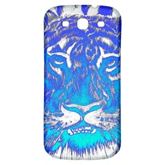 Background Fabric With Tiger Head Pattern Samsung Galaxy S3 S Iii Classic Hardshell Back Case