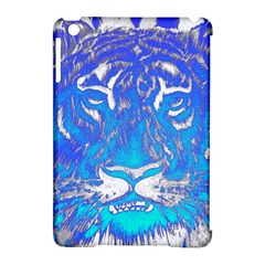 Background Fabric With Tiger Head Pattern Apple Ipad Mini Hardshell Case (compatible With Smart Cover) by Amaryn4rt