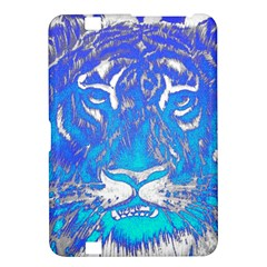 Background Fabric With Tiger Head Pattern Kindle Fire Hd 8 9  by Amaryn4rt
