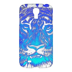 Background Fabric With Tiger Head Pattern Samsung Galaxy S4 I9500/i9505 Hardshell Case by Amaryn4rt