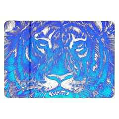 Background Fabric With Tiger Head Pattern Samsung Galaxy Tab 8 9  P7300 Flip Case by Amaryn4rt