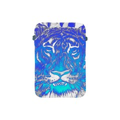 Background Fabric With Tiger Head Pattern Apple Ipad Mini Protective Soft Cases by Amaryn4rt
