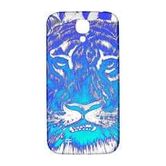 Background Fabric With Tiger Head Pattern Samsung Galaxy S4 I9500/i9505  Hardshell Back Case by Amaryn4rt