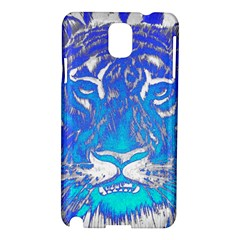 Background Fabric With Tiger Head Pattern Samsung Galaxy Note 3 N9005 Hardshell Case by Amaryn4rt