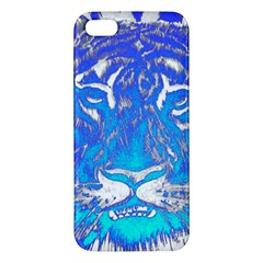 Background Fabric With Tiger Head Pattern Iphone 5s/ Se Premium Hardshell Case by Amaryn4rt