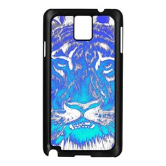 Background Fabric With Tiger Head Pattern Samsung Galaxy Note 3 N9005 Case (black) by Amaryn4rt