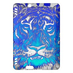 Background Fabric With Tiger Head Pattern Kindle Fire Hdx Hardshell Case by Amaryn4rt