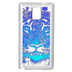 Background Fabric With Tiger Head Pattern Samsung Galaxy Note 4 Case (white) by Amaryn4rt