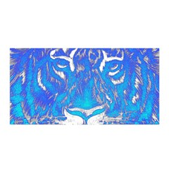 Background Fabric With Tiger Head Pattern Satin Wrap by Amaryn4rt