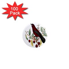 Bird On Branch Illustration 1  Mini Magnets (100 Pack)  by Amaryn4rt