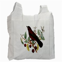 Bird On Branch Illustration Recycle Bag (one Side) by Amaryn4rt