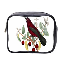Bird On Branch Illustration Mini Toiletries Bag 2 Side by Amaryn4rt