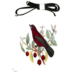 Bird On Branch Illustration Shoulder Sling Bags by Amaryn4rt