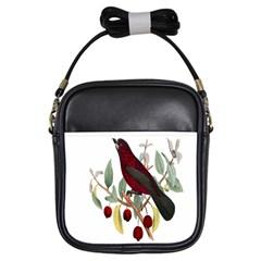 Bird On Branch Illustration Girls Sling Bags by Amaryn4rt