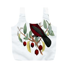 Bird On Branch Illustration Full Print Recycle Bags (m)  by Amaryn4rt
