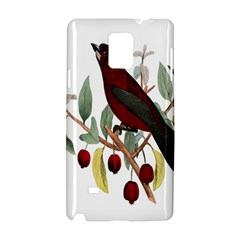Bird On Branch Illustration Samsung Galaxy Note 4 Hardshell Case by Amaryn4rt