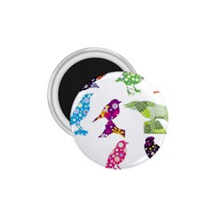 Birds Colorful Floral Funky 1 75  Magnets by Amaryn4rt