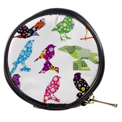 Birds Colorful Floral Funky Mini Makeup Bags by Amaryn4rt