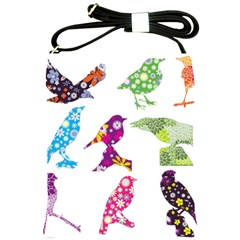 Birds Colorful Floral Funky Shoulder Sling Bags by Amaryn4rt