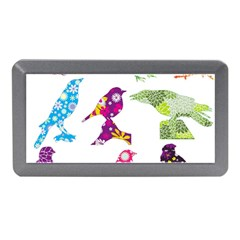 Birds Colorful Floral Funky Memory Card Reader (mini) by Amaryn4rt