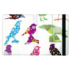 Birds Colorful Floral Funky Apple Ipad 2 Flip Case by Amaryn4rt