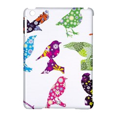 Birds Colorful Floral Funky Apple Ipad Mini Hardshell Case (compatible With Smart Cover) by Amaryn4rt