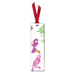 Birds Colorful Floral Funky Small Book Marks by Amaryn4rt