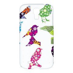 Birds Colorful Floral Funky Samsung Galaxy S4 I9500/i9505 Hardshell Case by Amaryn4rt