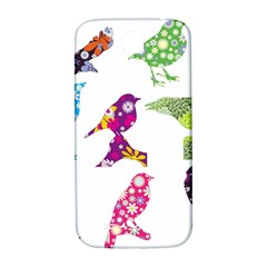 Birds Colorful Floral Funky Samsung Galaxy S4 I9500/i9505  Hardshell Back Case