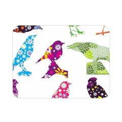 Birds Colorful Floral Funky Double Sided Flano Blanket (mini)  by Amaryn4rt