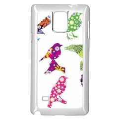 Birds Colorful Floral Funky Samsung Galaxy Note 4 Case (white)