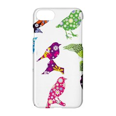Birds Colorful Floral Funky Apple Iphone 7 Hardshell Case by Amaryn4rt