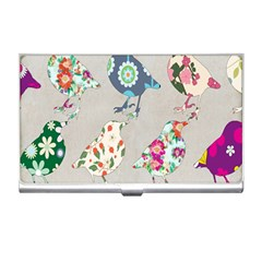 Birds Floral Pattern Wallpaper Business Card Holders