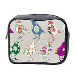 Birds Floral Pattern Wallpaper Mini Toiletries Bag 2 Side by Amaryn4rt