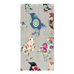 Birds Floral Pattern Wallpaper Shower Curtain 36  X 72  (stall)  by Amaryn4rt