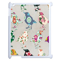 Birds Floral Pattern Wallpaper Apple Ipad 2 Case (white) by Amaryn4rt