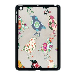 Birds Floral Pattern Wallpaper Apple Ipad Mini Case (black) by Amaryn4rt