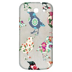 Birds Floral Pattern Wallpaper Samsung Galaxy S3 S Iii Classic Hardshell Back Case by Amaryn4rt