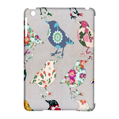 Birds Floral Pattern Wallpaper Apple Ipad Mini Hardshell Case (compatible With Smart Cover) by Amaryn4rt