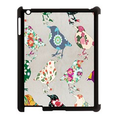Birds Floral Pattern Wallpaper Apple Ipad 3/4 Case (black) by Amaryn4rt