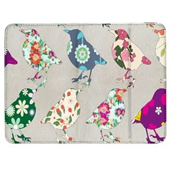 Birds Floral Pattern Wallpaper Samsung Galaxy Tab 7  P1000 Flip Case by Amaryn4rt