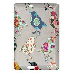 Birds Floral Pattern Wallpaper Amazon Kindle Fire Hd (2013) Hardshell Case by Amaryn4rt