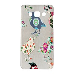 Birds Floral Pattern Wallpaper Samsung Galaxy A5 Hardshell Case  by Amaryn4rt