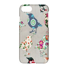 Birds Floral Pattern Wallpaper Apple Iphone 7 Hardshell Case by Amaryn4rt